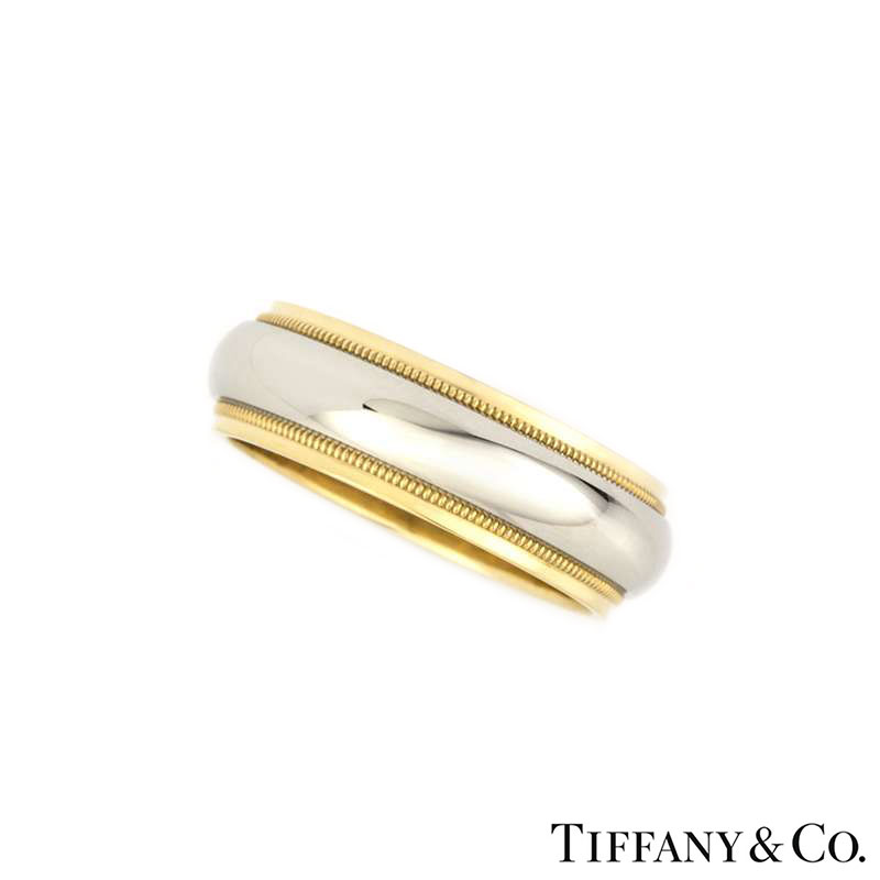Tiffany & Co 18k Yellow Gold & Platinum Band